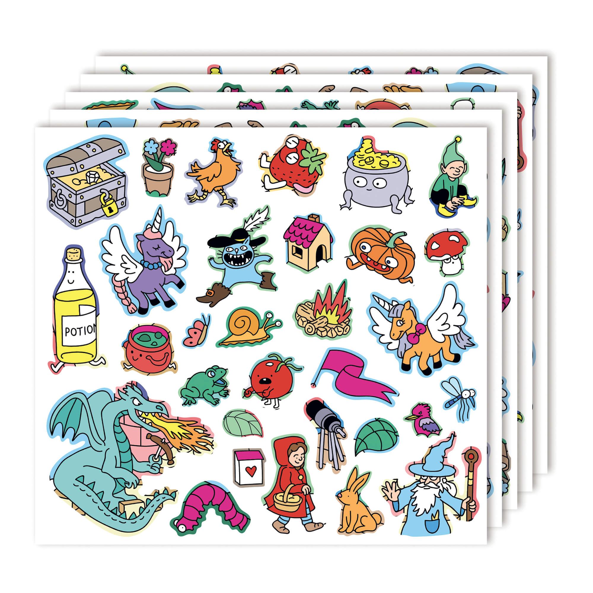 Poster à colorier géant + Stickers FANTASTIC by OMY