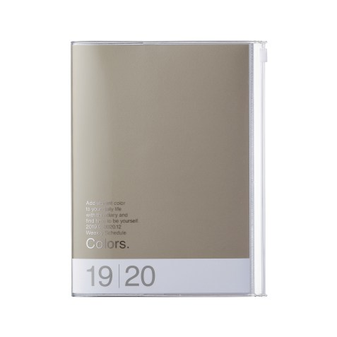Mark's Japan – Agenda Colors A6 2019-2020 – Gris