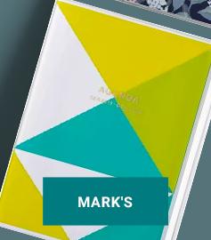 AGENDA A5 MARK'S JAPAN GEOMETRIC PATTERN 2019-2020 – JAUNE
