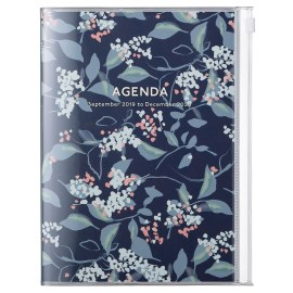 Agenda A5 MARK'S JAPAN Flower 2019-2020 - Bleu Marine