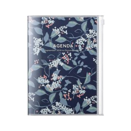Agenda A6 MARK'S JAPAN Flower 2019-2020 - Bleu Marine
