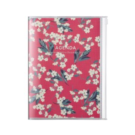 Agenda A6 MARK'S JAPAN Flower 2019-2020 - Rouge