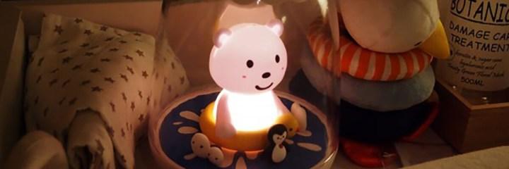 la collection petit akio veilleuse ours