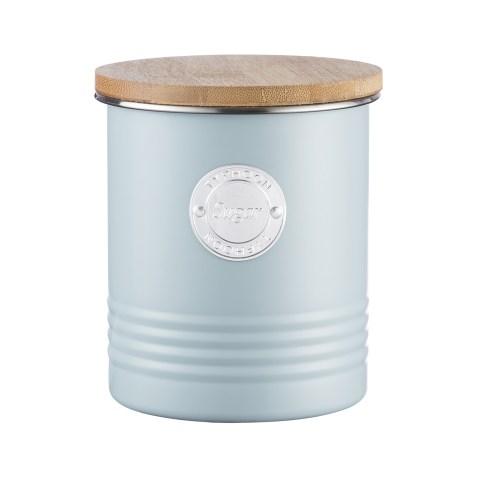 Boîte de conservation pour sucre look vintage – Bleu clair