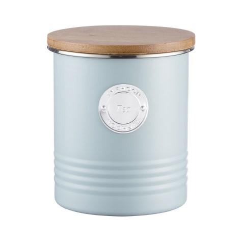 Boîte de conservation pour thé look vintage – Bleu clair