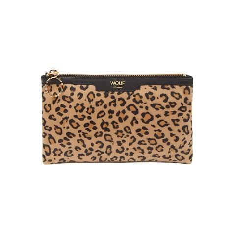 Petit clutch au motif léopard par Wouf