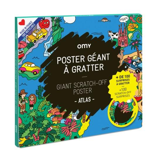 Poster géant à gratter ATLAS by OMY