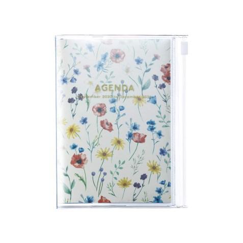 Agenda 2020-2021 Mark's Japan Flower pattern A6 Crème – sep20 à déc21