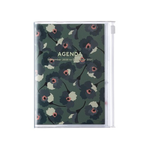 Agenda 2020-2021 Mark's Japan Flower pattern A6 Vert – sep20 à déc21