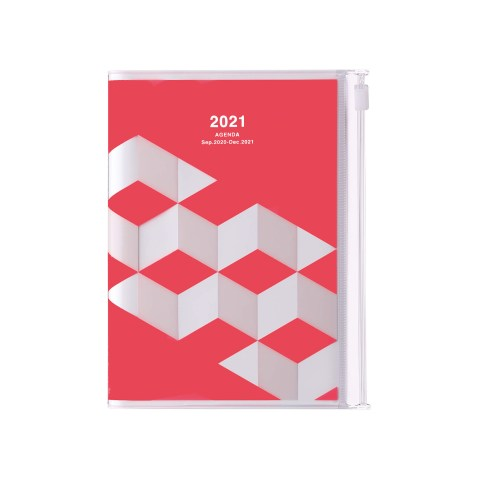 Agenda 2020-2021 Mark's Japan Geometric pattern A6 Rose – sep20 à déc21