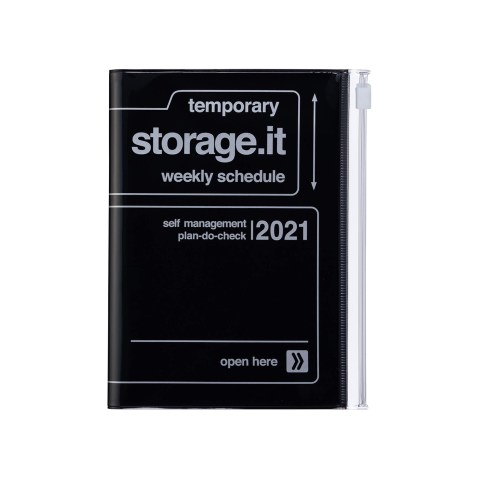 Agenda 2020-2021 Mark's Japan Storage.it A6 Noir – sep20 à déc21