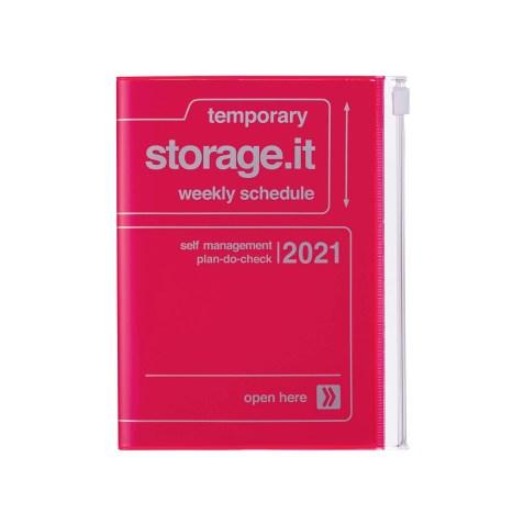 Agenda 2020-2021 Mark's Japan Storage.it A6 Rose Néon – sep20 à déc21