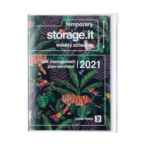 Agenda 2020-2021 Mark's Japan Storage.it Jungle B6 Noir – oct20 à déc21