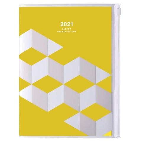 Agenda 2020-2021 Mark's Japan Geometric pattern A5 Jaune – sep20 à déc21