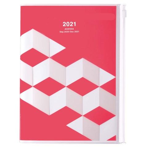 Agenda 2020-2021 Mark's Japan Geometric pattern A5 Rose – sep20 à déc21