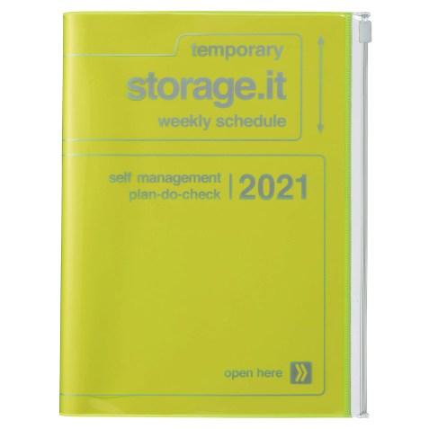 Agenda 2020-2021 Mark's Japan Storage.it A5 Jaune Néon – sep20 à déc21