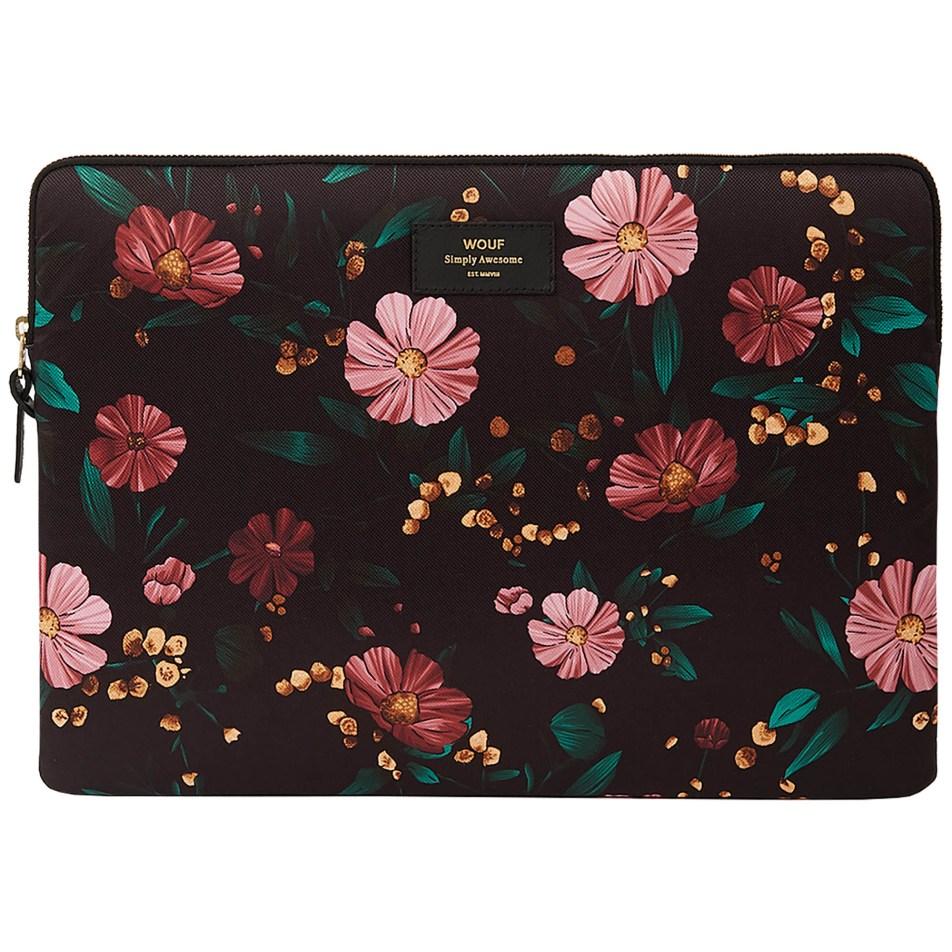 Housse WOUF pour ordinateur portable 15″ – Black Flowers