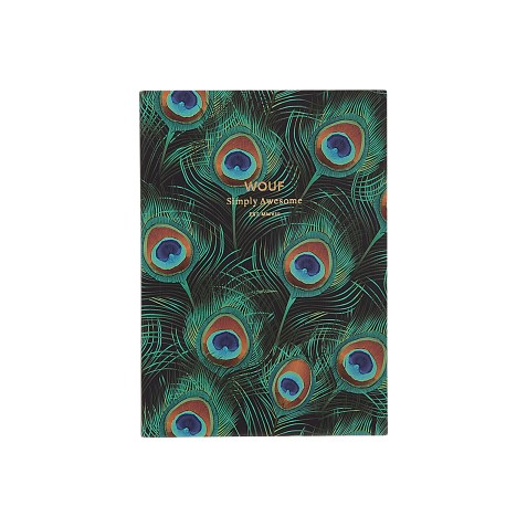 Cahier original ligné – Format A6 – Peacock by WOUF