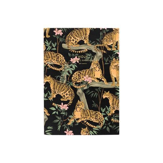 Cahier original ligné – Format A6 – Black Lazy Jungle by WOUF