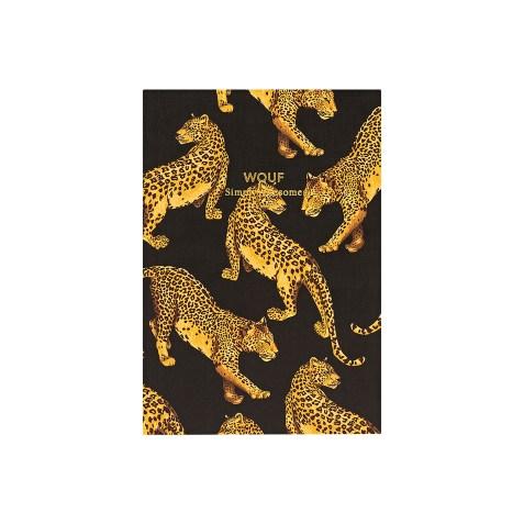 Cahier original ligné – Format A6 – Black Leopard by WOUF