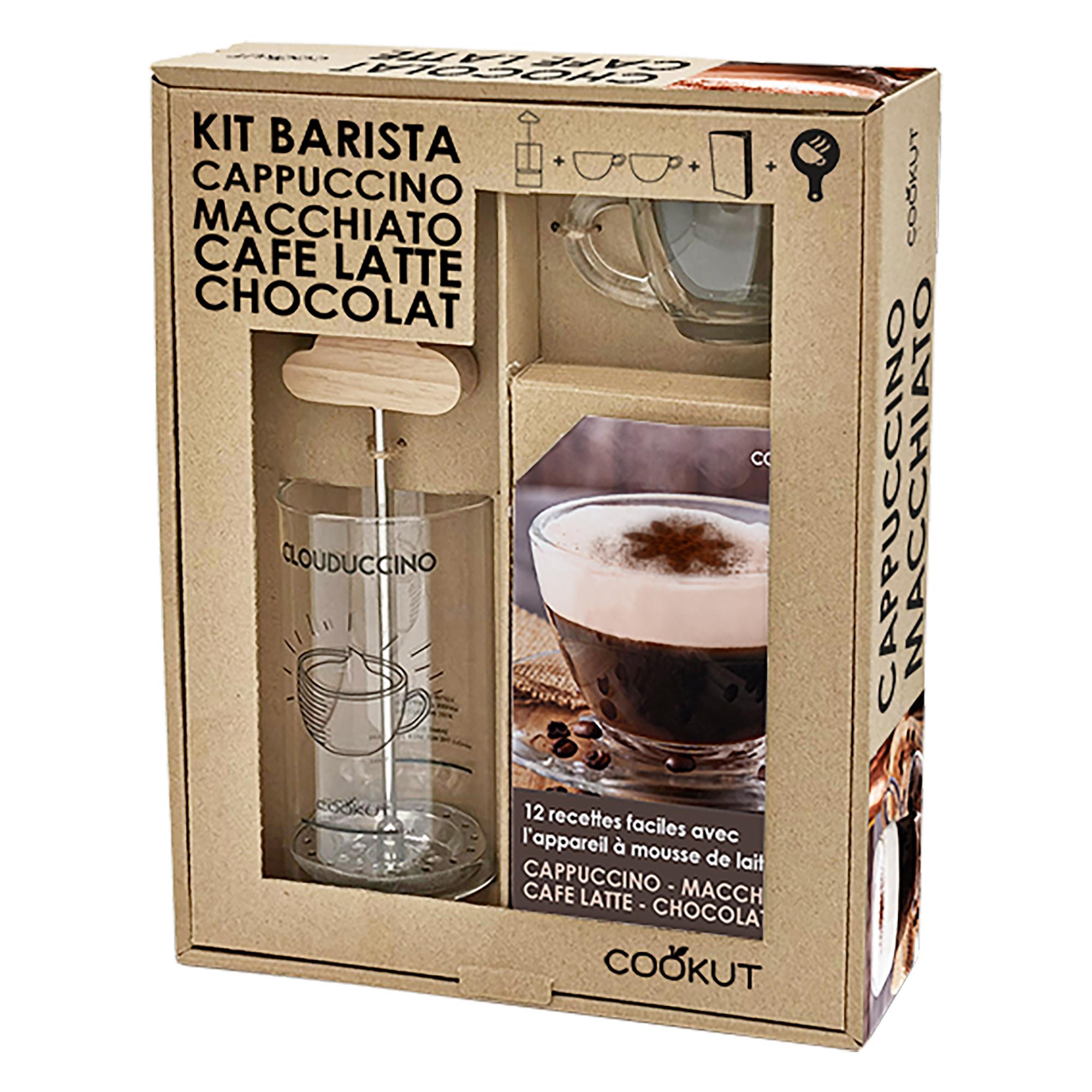 coffret cadeau mousseur a lait avec tasses a cappuccino