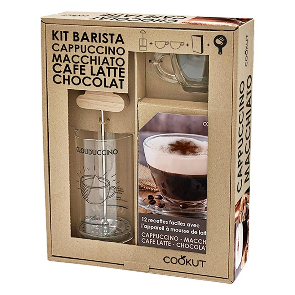 Coffret cadeau Mousseur à lait avec tasses à Cappuccino