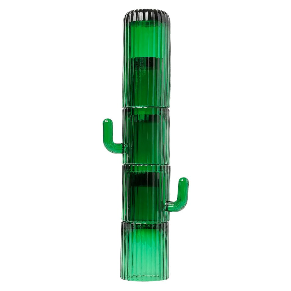 "Set de 4 Grands Verres empilables Cactus ""Saguaro"""