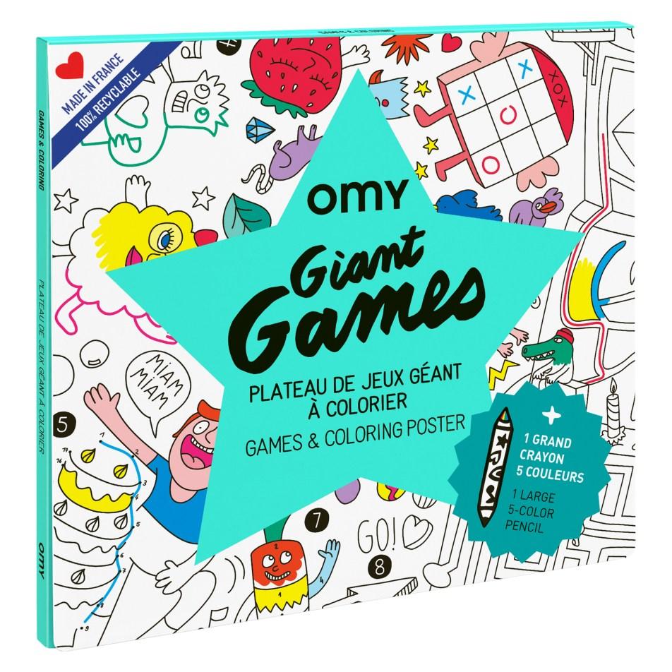 Poster Géant (70x100cm) à colorier GAMES by OMY