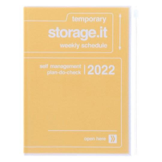 Agenda 2021-2022 Mark's Japan Storage it A5 Jaune – sep21 à déc22