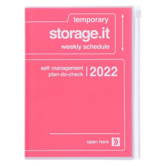 Agenda 2021-2022 Mark's Japan Storage it A5 Rose – sep21 à déc22