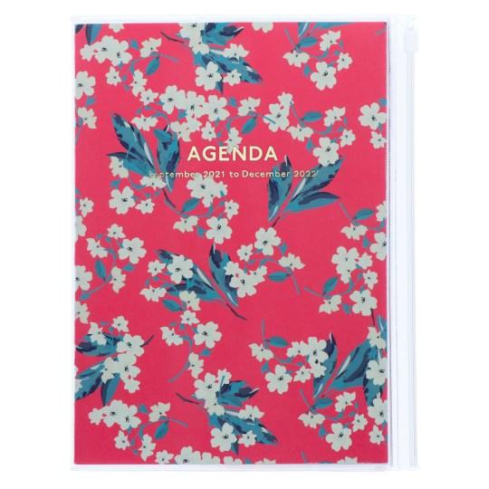 Agenda 2021-2022 Mark's Japan Flower pattern A5 Rose – sep21 à déc22