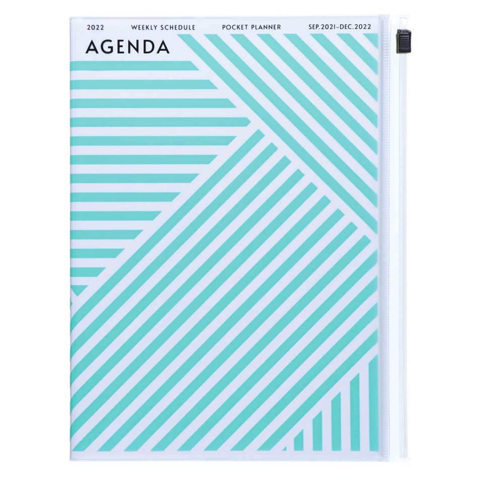 Agenda 2021-2022 Mark's Japan Geometric pattern A5 Menthe – sep21 à déc22