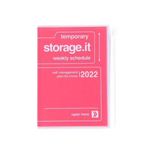 Agenda 2021-2022 Mark's Japan Storage it A6 Rose – sep21 à déc22