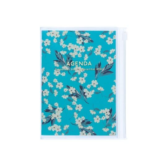 Agenda 2021-2022 Mark's Japan Flower Pattern A6 Turquoise – sep21 à déc22