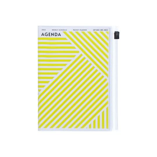 Agenda 2021-2022 Mark's Japan Geometric Pattern A6 Jaune – sep21 à déc22