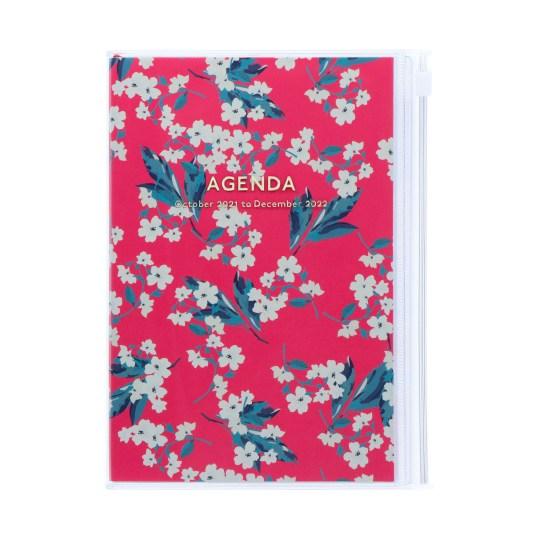 Agenda 2021-2022 Mark's Japan Flower Pattern B6 Rose – oct21 à jan23