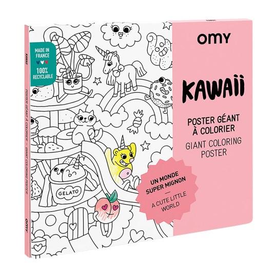 Poster Géant à colorier KAWAI by OMY