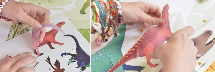 la collection Poster Dinosaures Poppik + Stickers