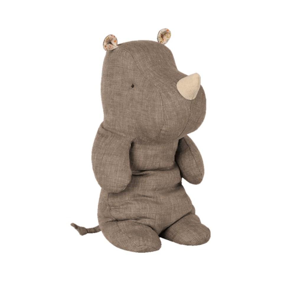 Peluche 30cm Safari Friends – Le Rhino Gris