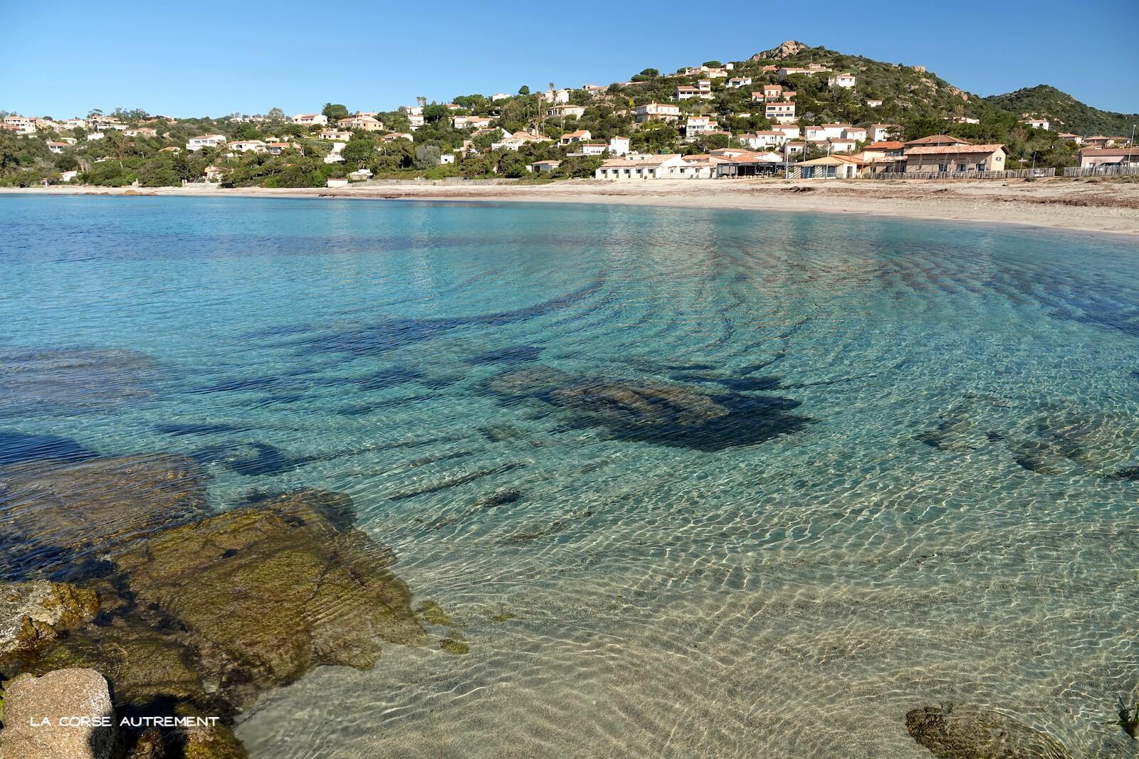 La plage du Ruppione en Corse
