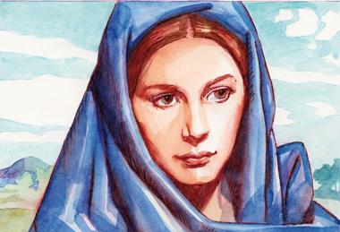 Maria è strumento nelle mani di Dio per il suo piano di salvezza; è discepola in ascolto e in atteggiamento di umile serva del Signore.