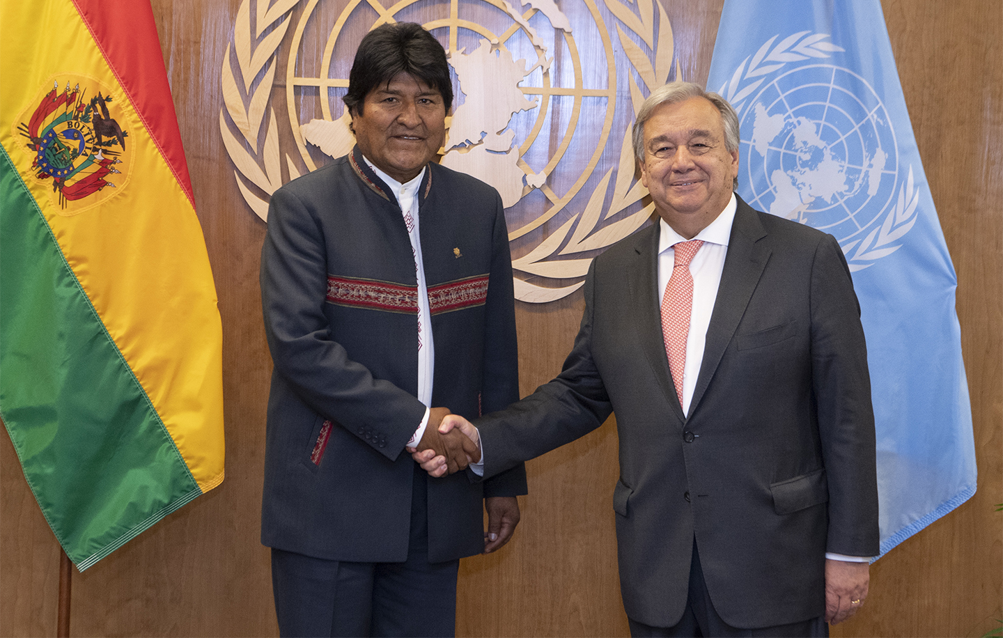 Secretary General meets with President, PLURINATIONAL STATE OF BOLIVIA.