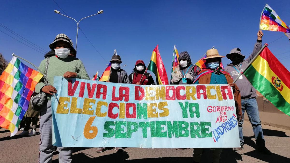 Bolivia marcha democracia