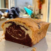 Gâteau neige façon marbré