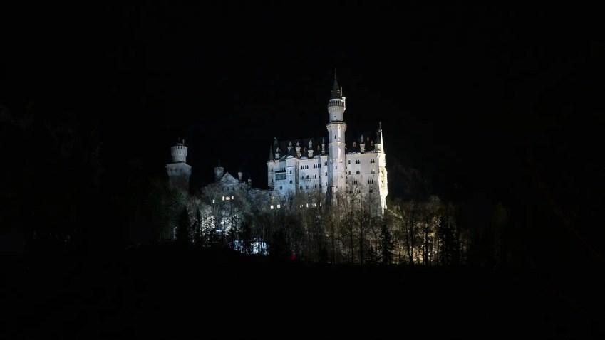 bavière en hiver chateau de nuit
