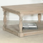 Amaury Rustic Wooden Farmhouse Coffee Table Furniture La Maison Chic Luxury Interiors