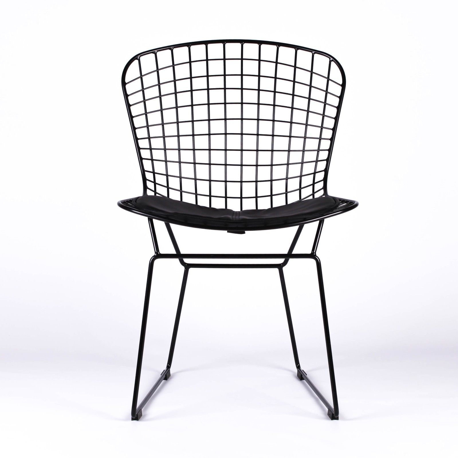 Bertoia Inspired Black Mesh Wire Dining Chair Furniture