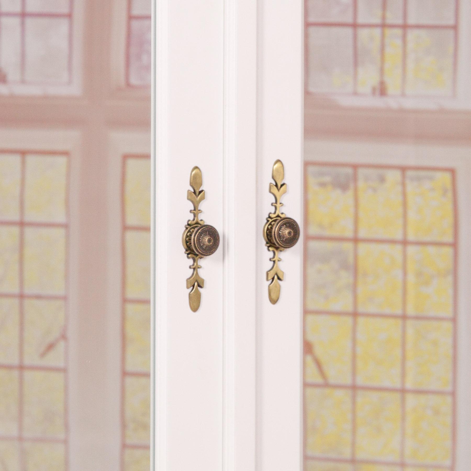 french wardrobe white mirrored double armoire