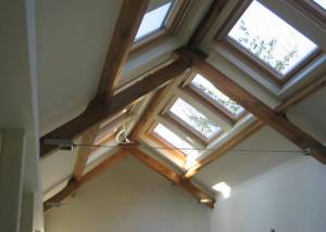 Period Townhouse Renovation - Oak beams and trusses using bespoke carpentry and timber work.