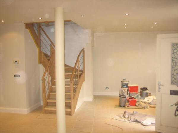 Period Townhouse Renovation - Living area and staircase